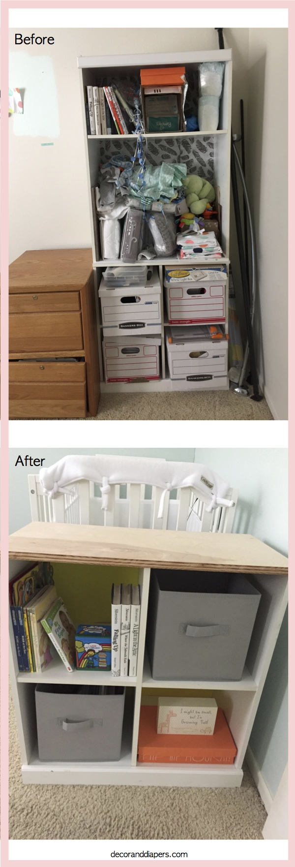 20171114 Nursery Bookcase Re-design
