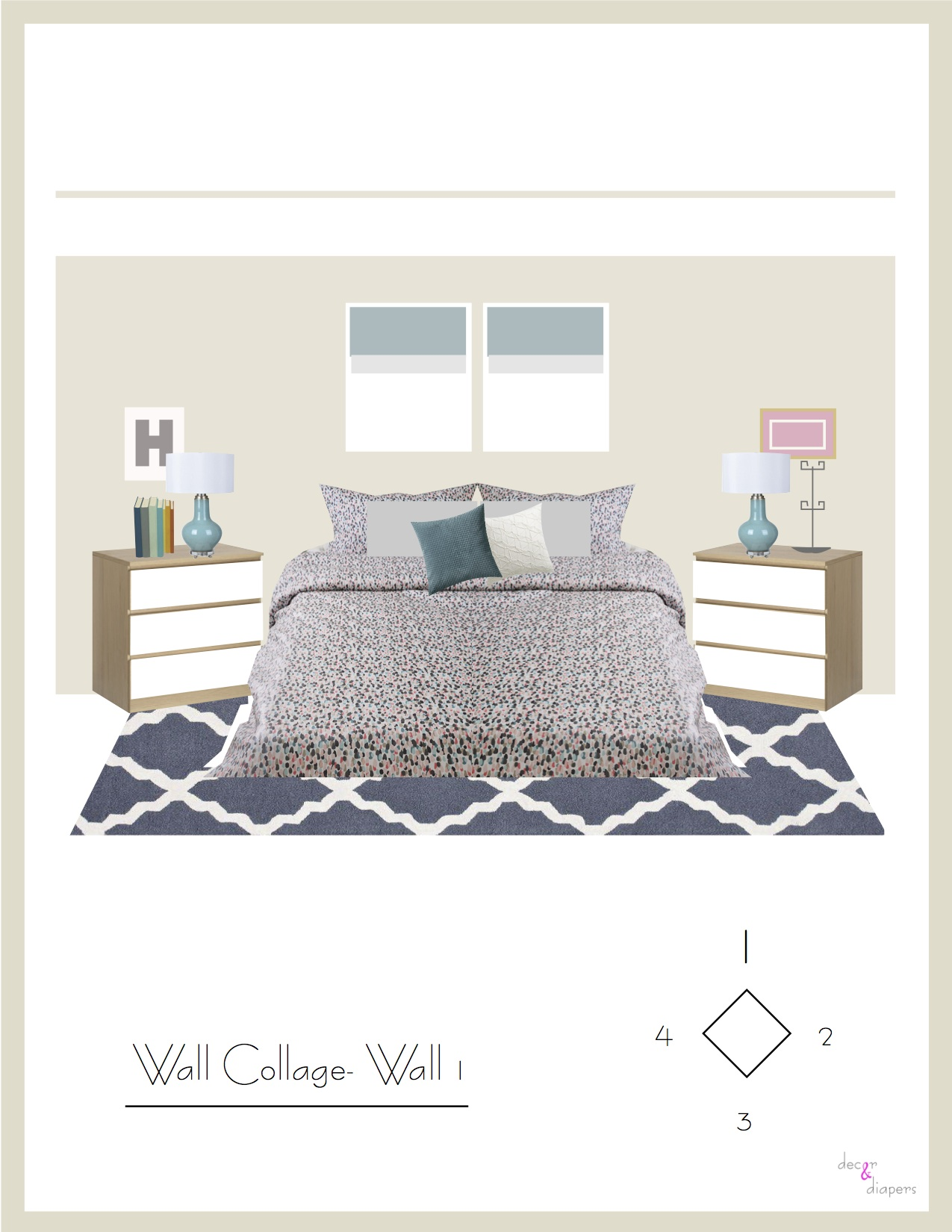 Henkin, SarahRose and Jonathan- Master Bedroom. Wall Collage.jpg