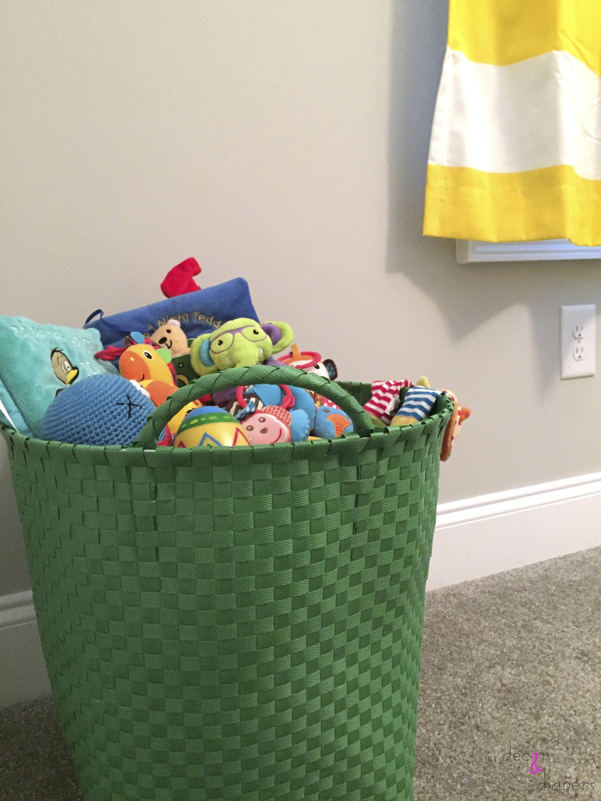 Baby will have easy access to all of his toys at floor level
