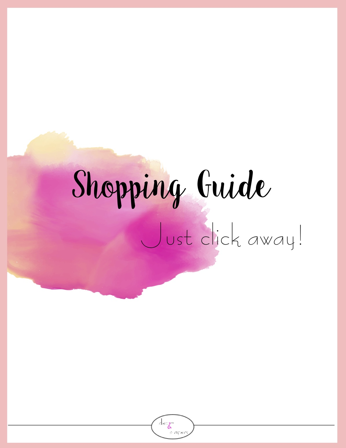 Shopping Guide - An easy-to-use form to purchase your new room- YAY. Just click on the links to purchase each item online. (You can even find some items at your local retailer, if you feel like hopping in the car!)