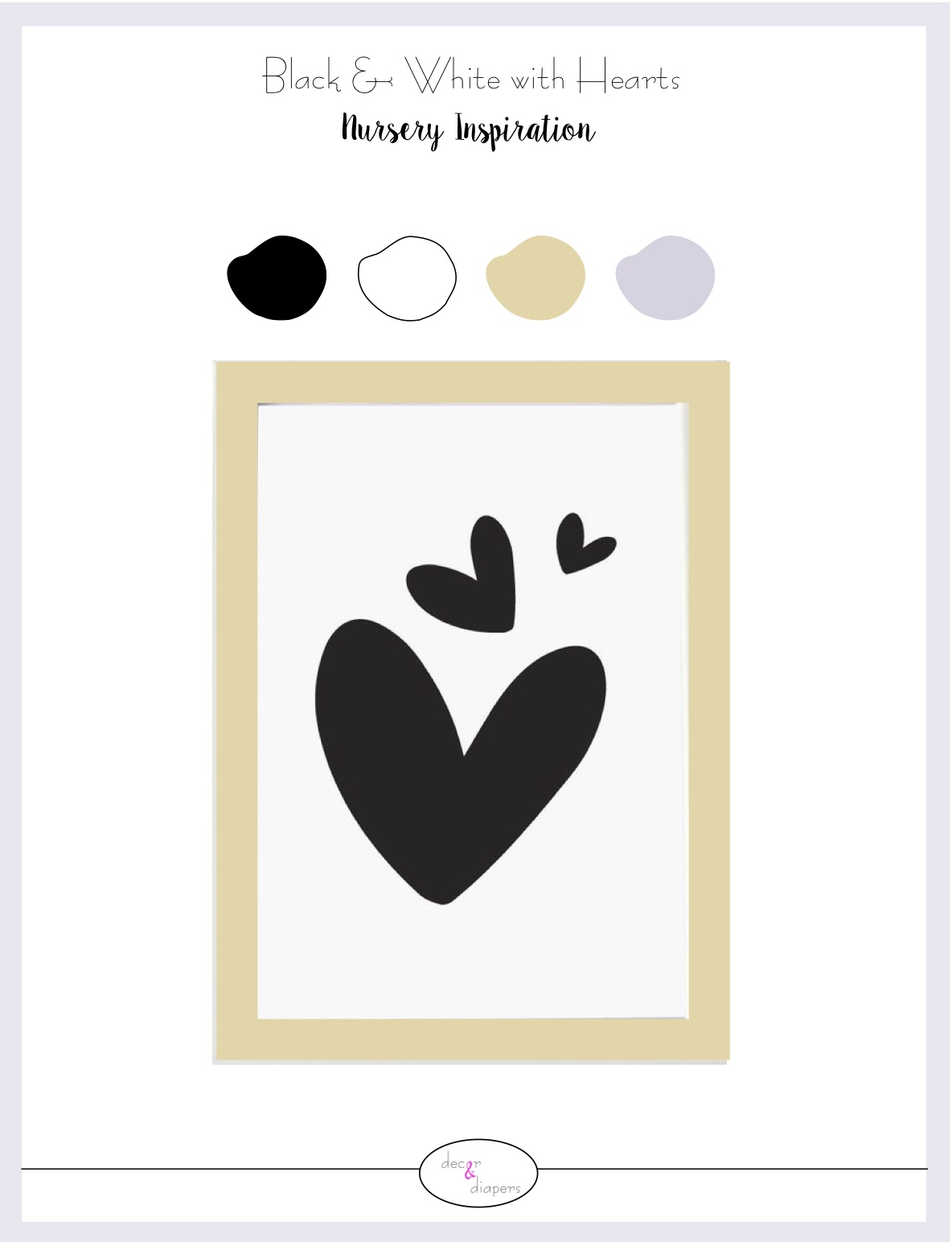 Black and White with Hearts Nursery