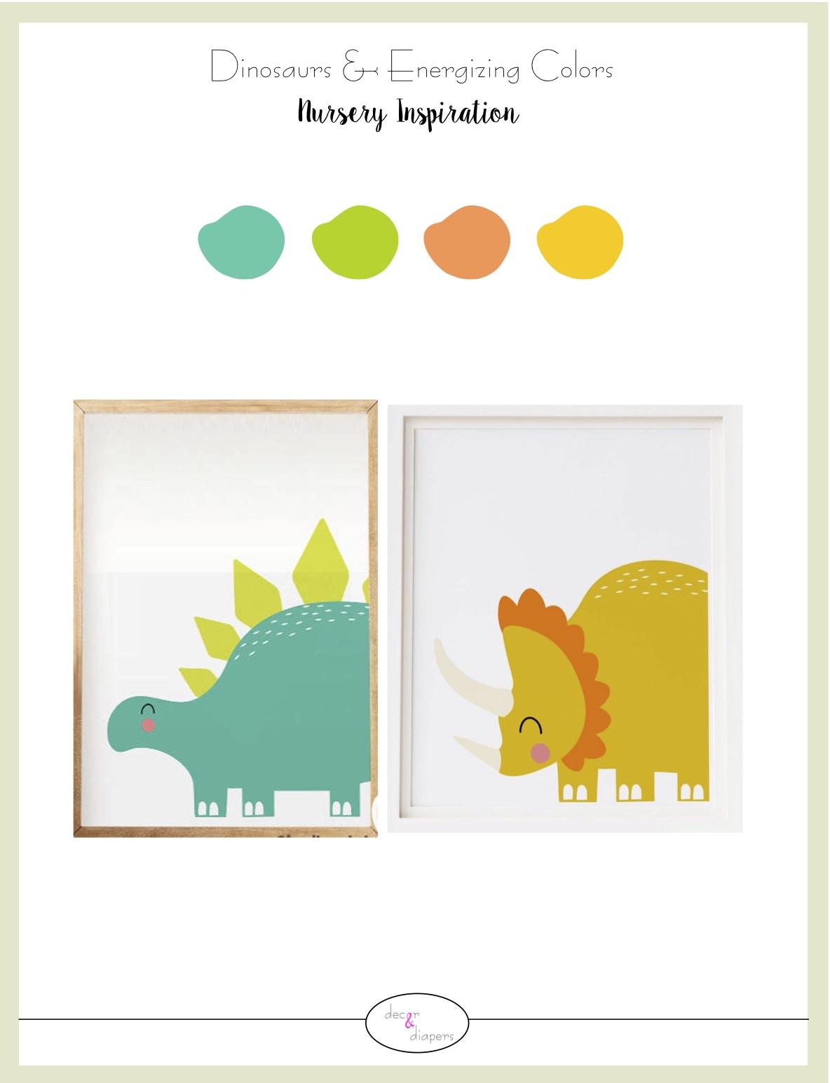 Dinosaurs & Energizing Colors- Nursery