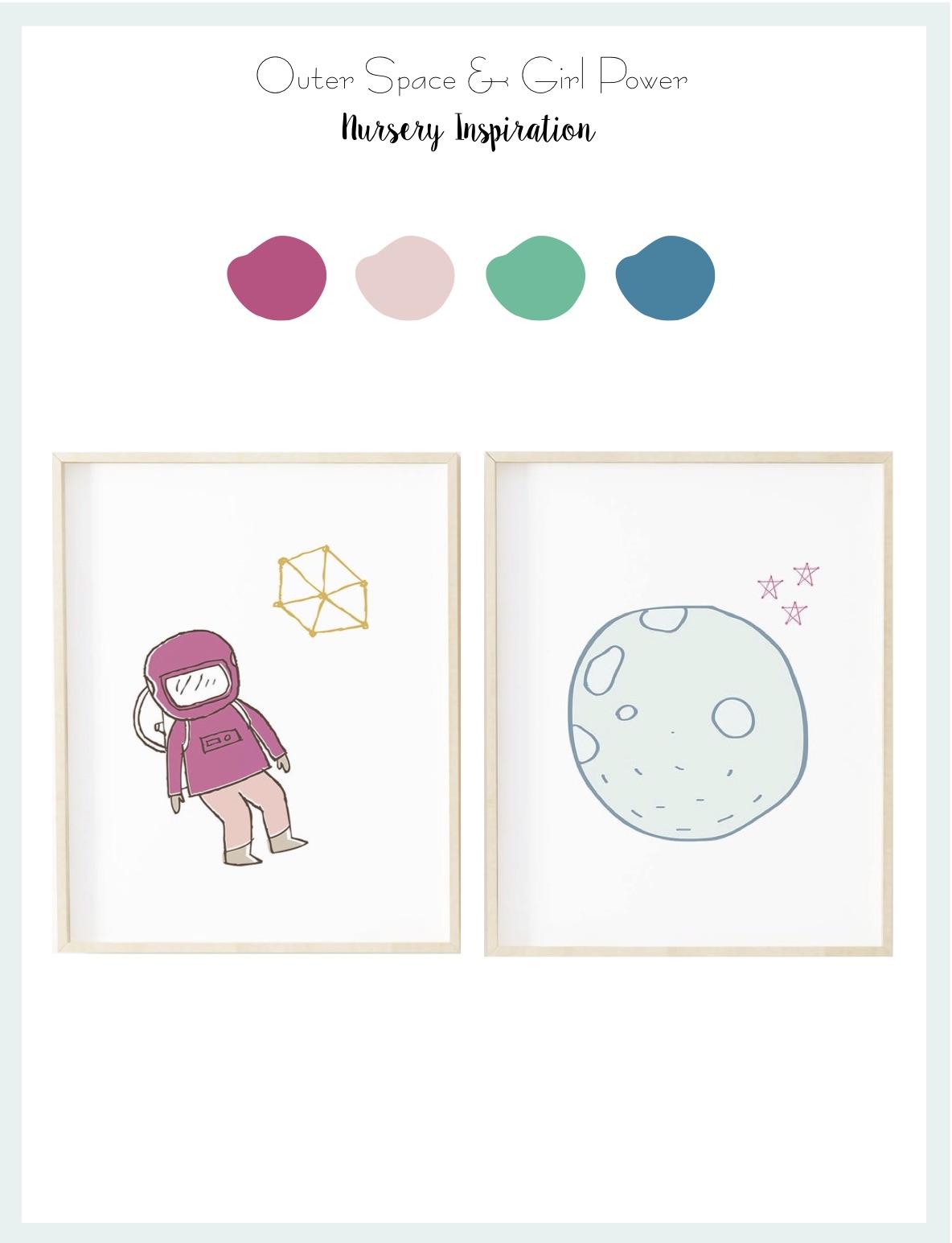 A Girl's Nursery: Outer Space & Girl Power