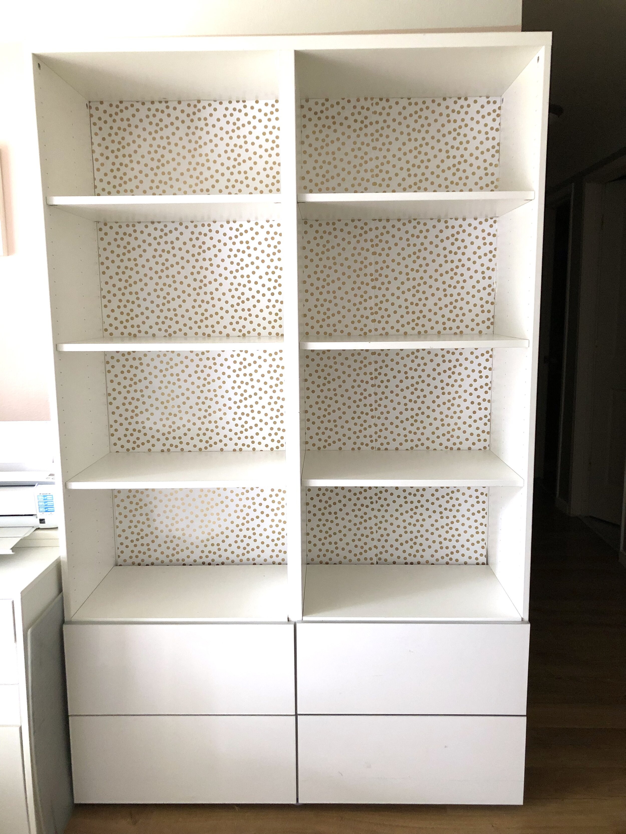 $100 Room Challenge, Wk 3: My Workspace- Budget Shelf Backing & Buying