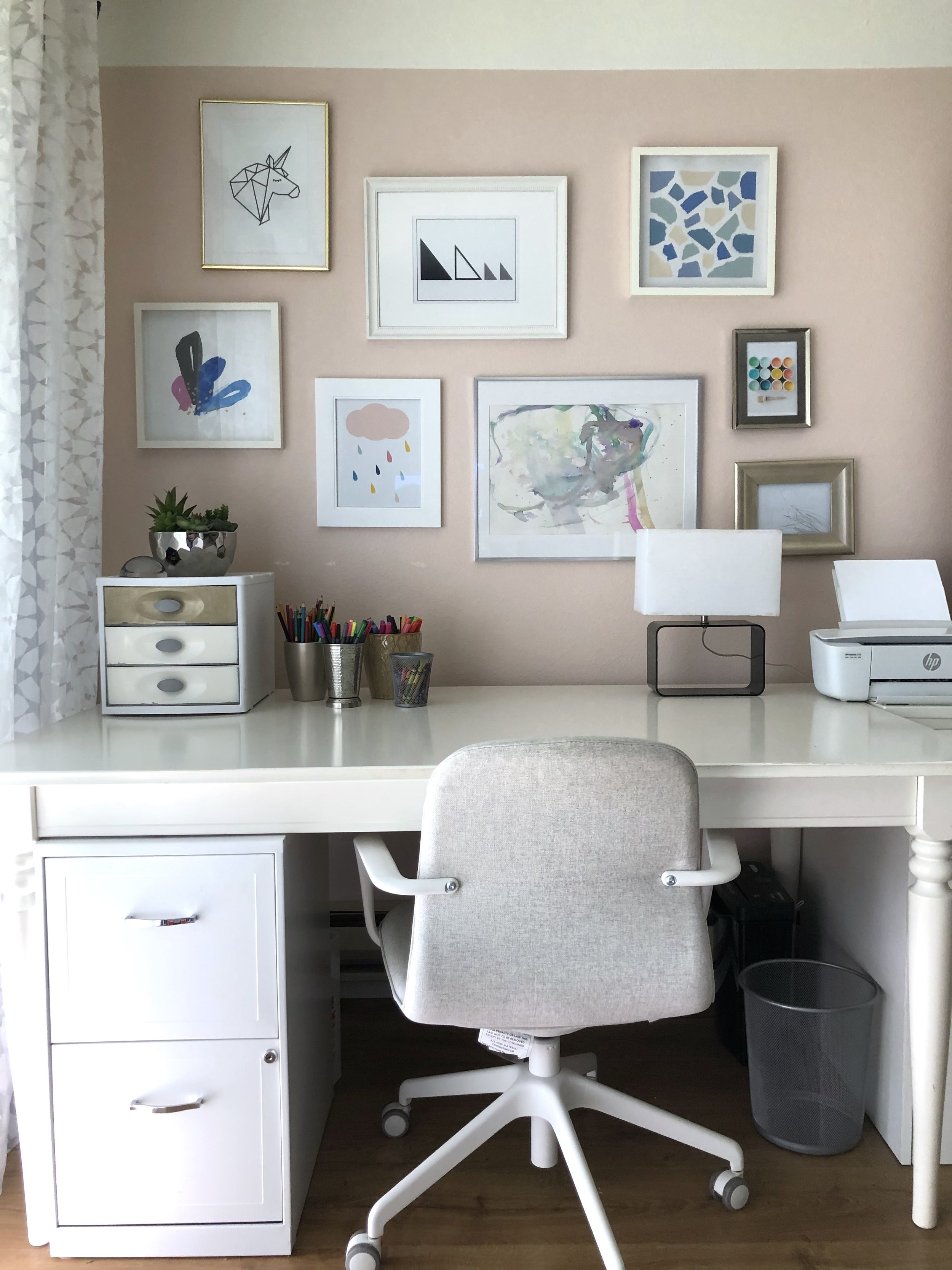 $100 Room Challenge, Wk 4: My Workspace- The Reveal