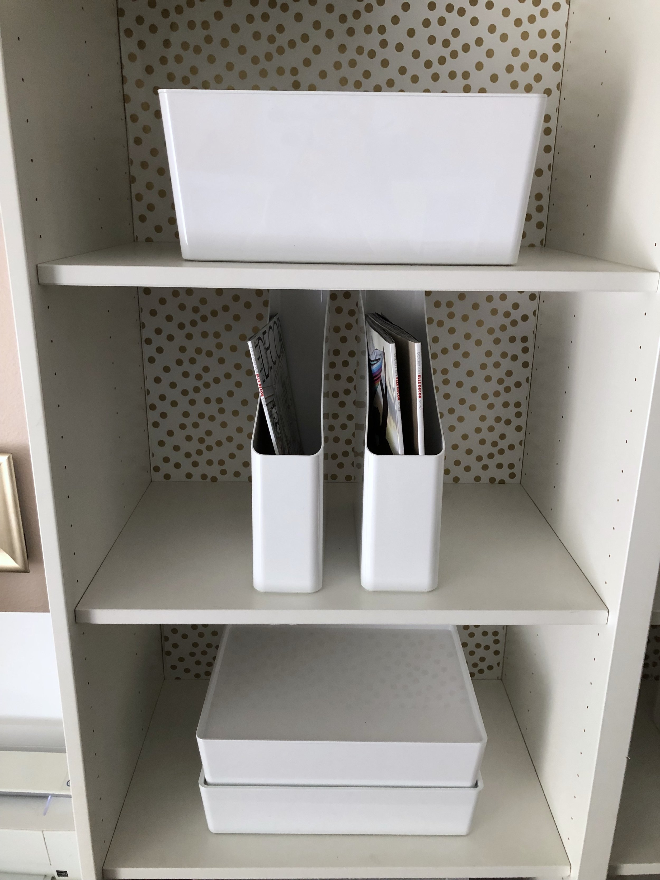 A variety of storage options to adapt with my business and craft needs