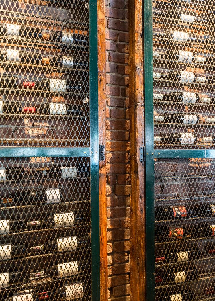 Industrial Locker Door Liquor Cabinet