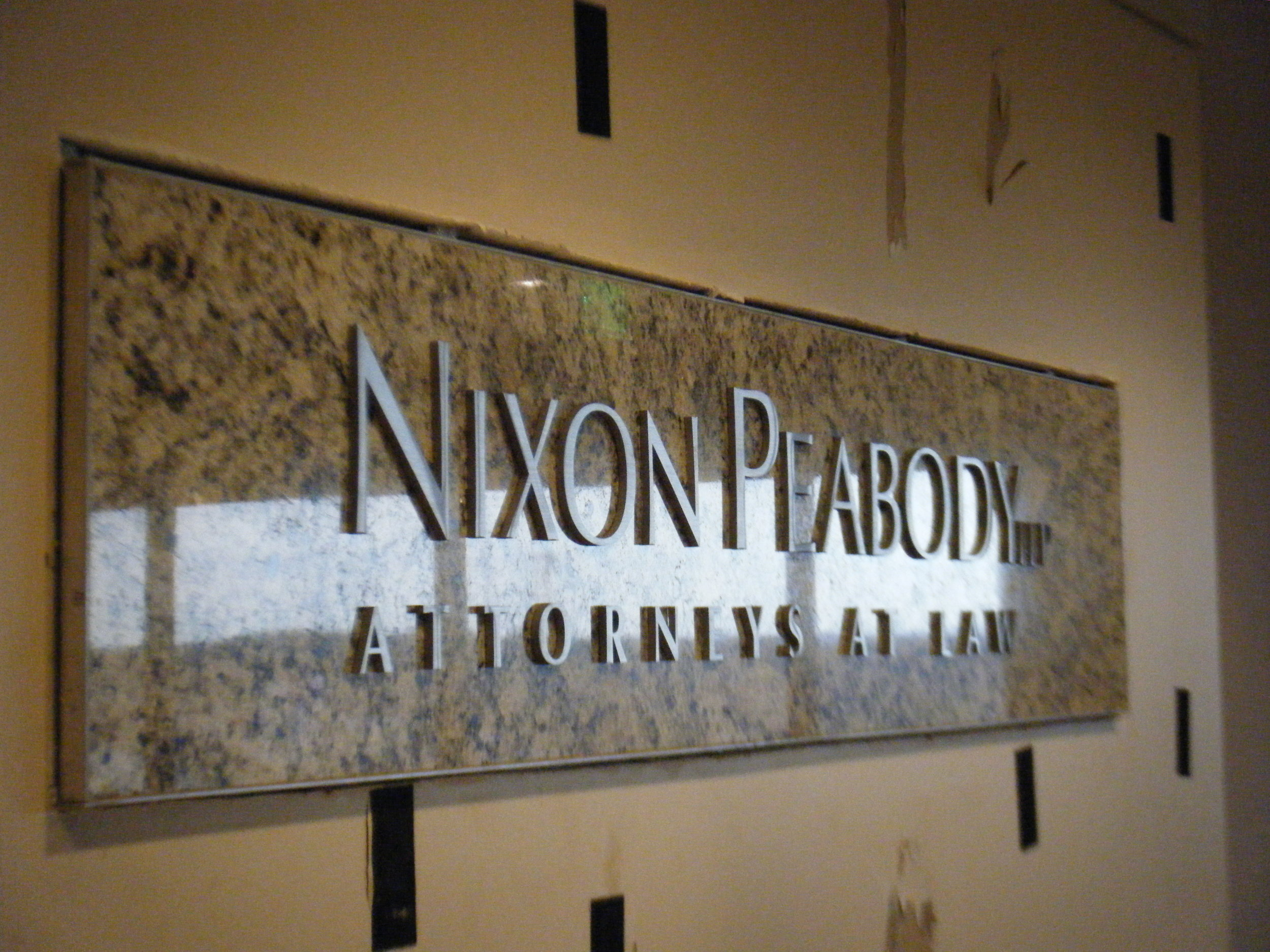 Nixon Peobody Interior Wall sign .JPG