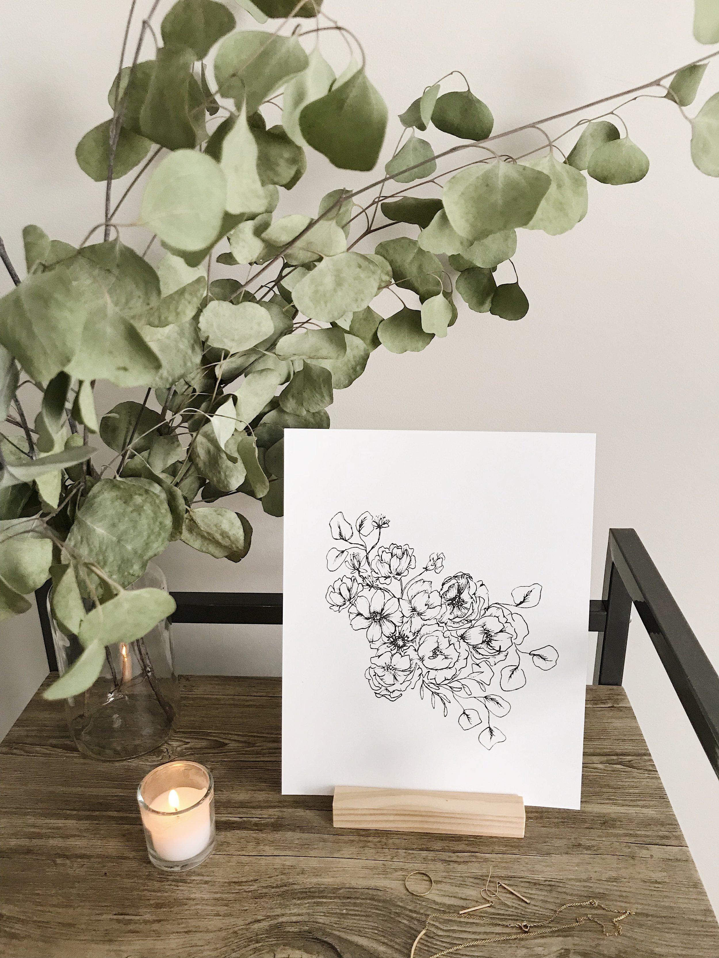 FloralIllustration001_AnIntroduction_astrantia_garden rose_eucalyptus_carnation_cosmos_anemone_01