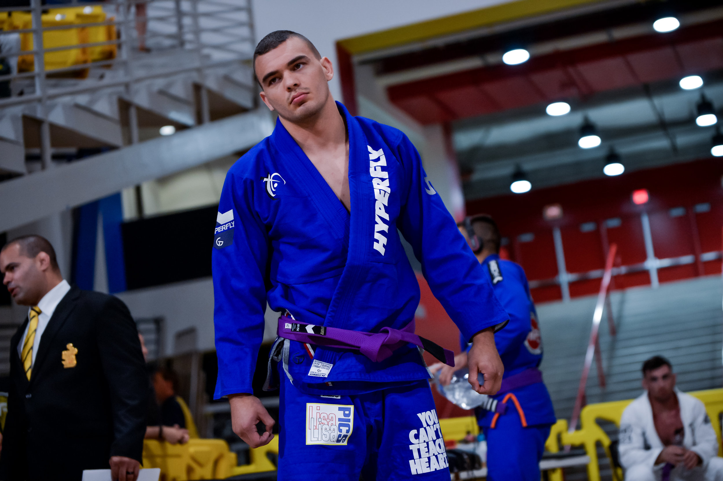 Darin Conner DeAngelis is the 2017/18 #1 ranked Heavy Weight Purple Belt in the IBJJF.  And if you noticed, he is wearing a really cool patch haha Thank you DC!