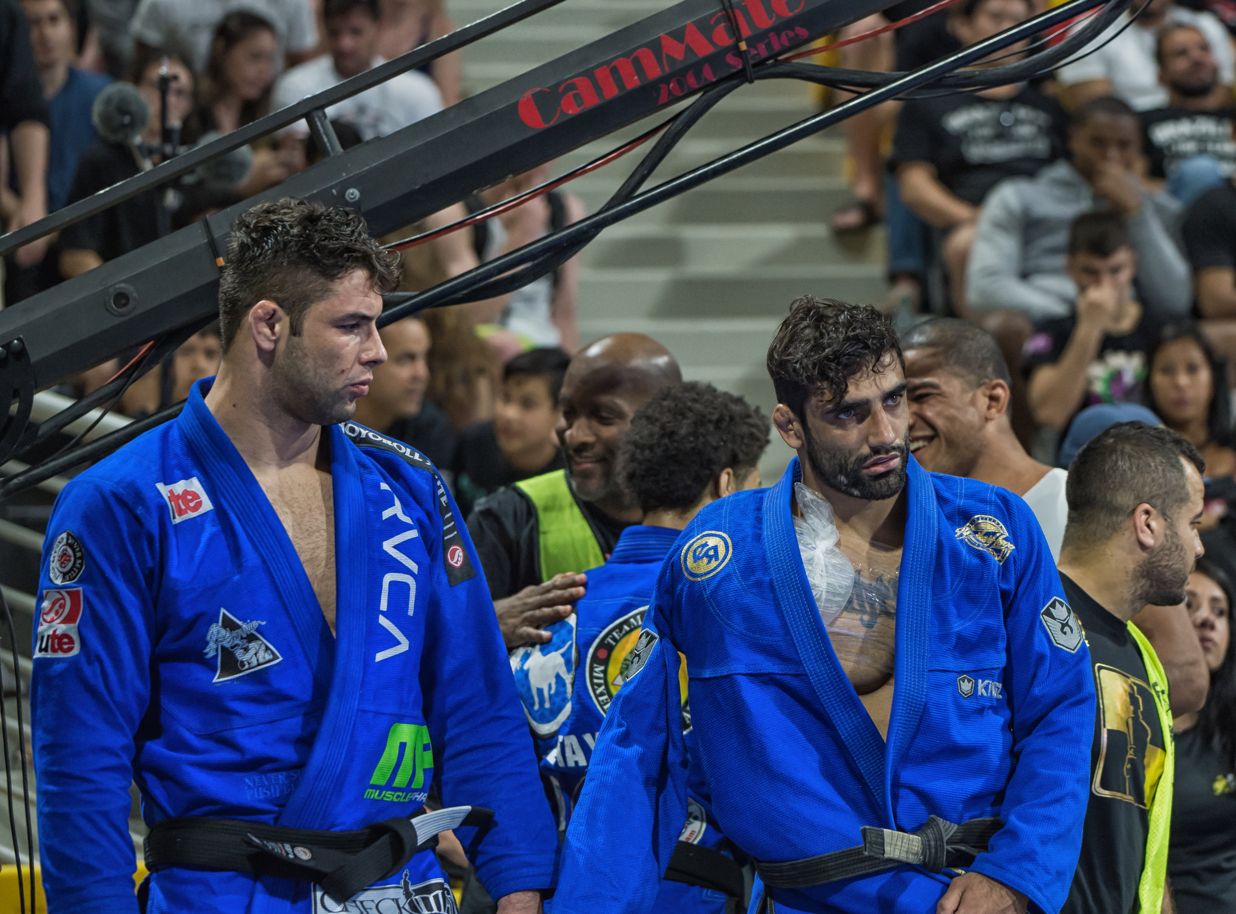 Buchecha and Leandro Lo await to be called to the mat for the Absolute Finals…