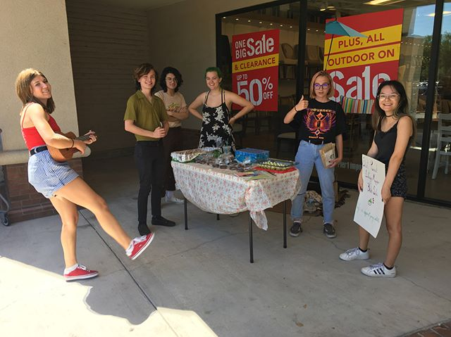 Bake Sale!!!! We have green vanilla cupcakes, double chocolate chip cookies, brownies, and more! Come out and support our club :) We are located in front of Piers 1 Imports next to Target.