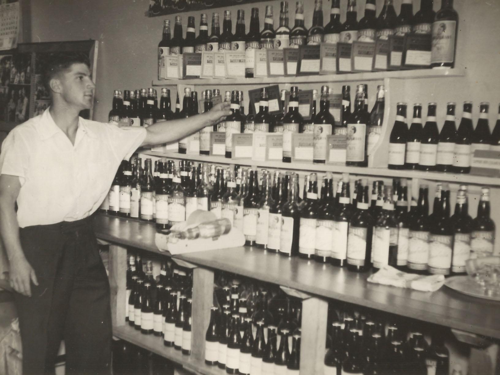 With fellow viticulturist Albert 1960s