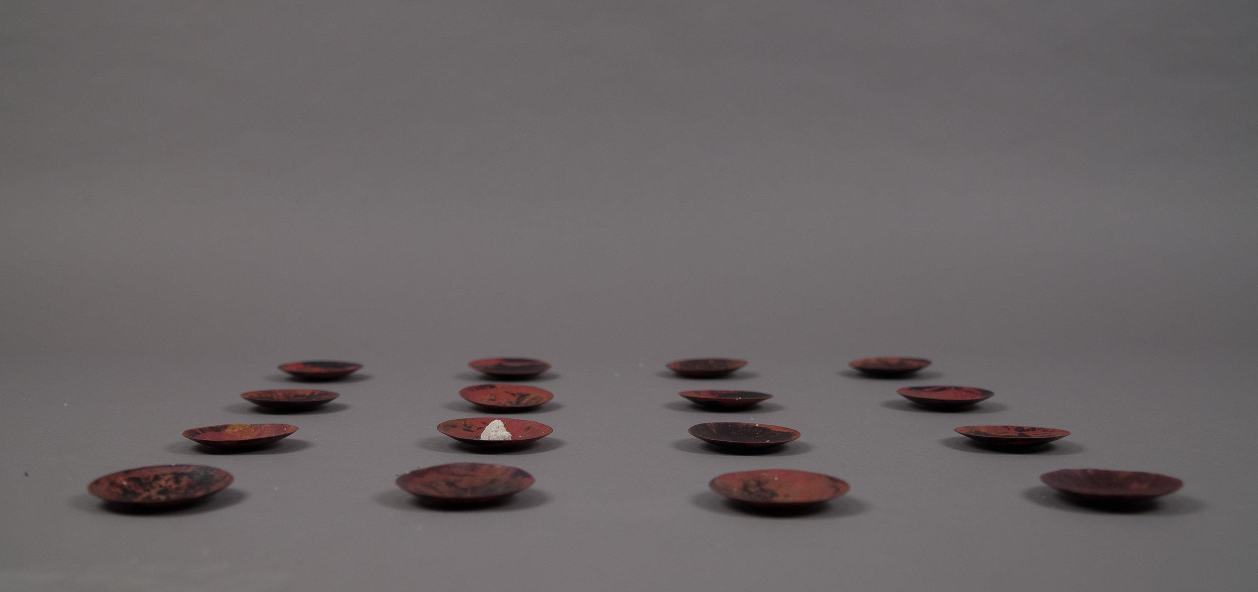 Sixteen Copper Bowls for Meditation