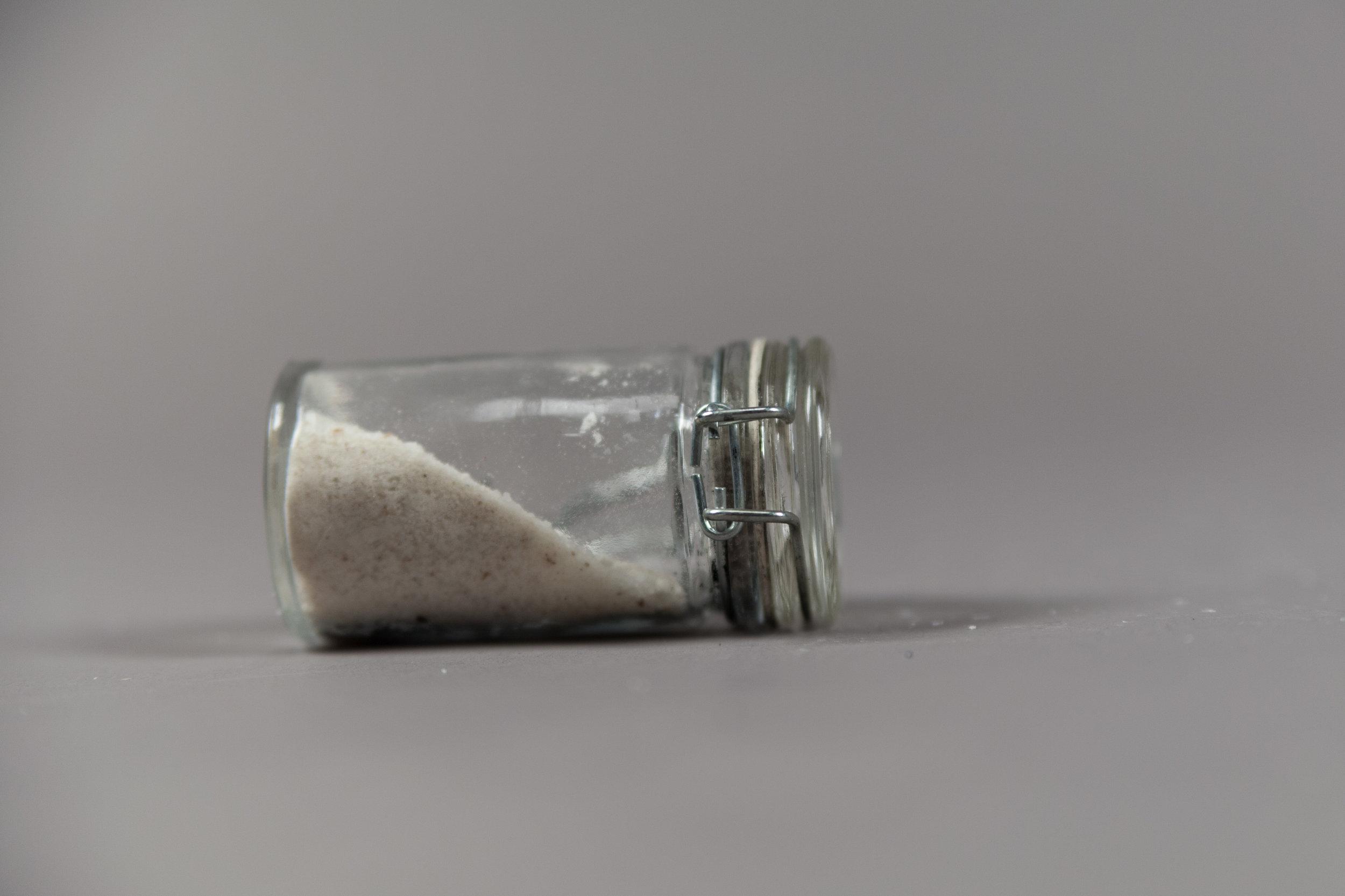 Jar of Salt for Cleaning Holy Utensils