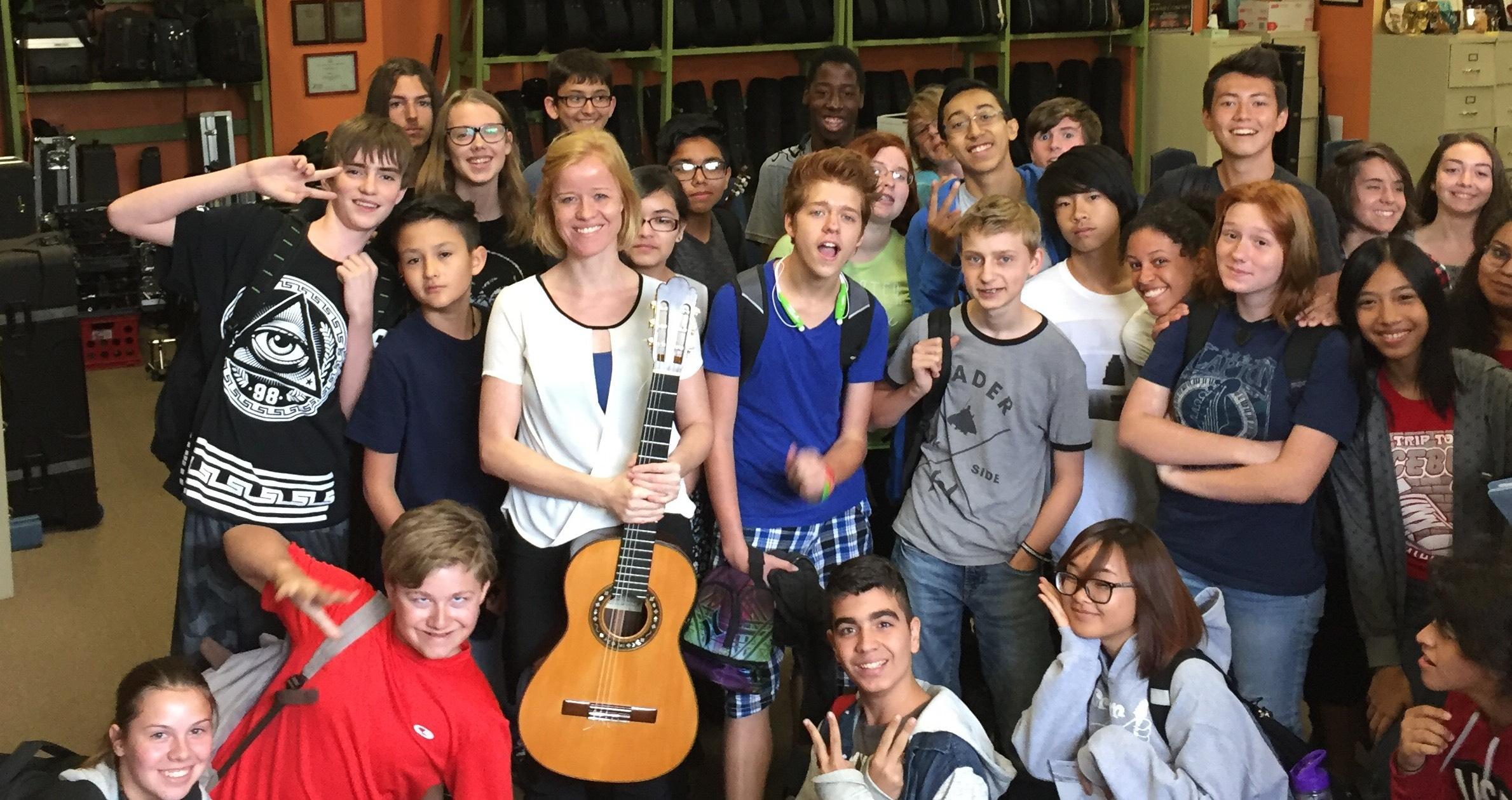 Eva Beneke with LVAA students in 2015