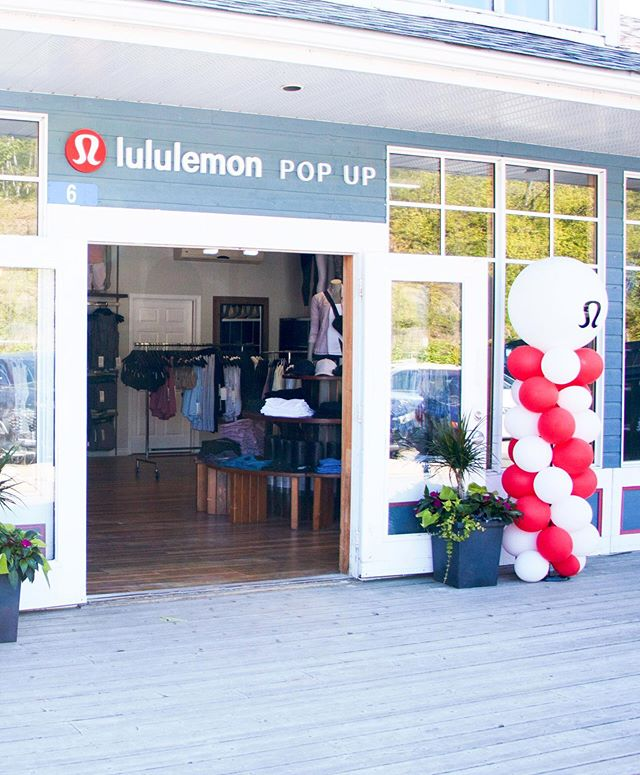 "You know summer has arrived when our Muskoka Pop-Up opens for the season ☀️ ⠀⠀⠀⠀⠀⠀⠀⠀⠀ Your favourite cottage shopping destination is getting two homes this summer — our original pop-up in Minett and our new Port Carling location. Head over to our ""Muskoka"" Highlights in our profile for store hours and locations. #thesweatlife"