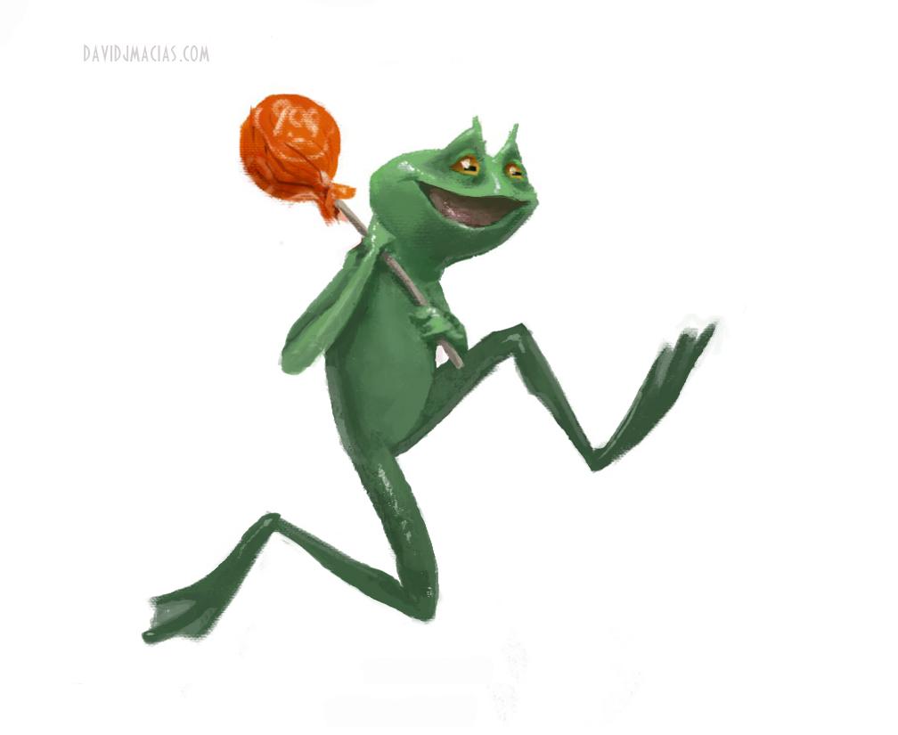 Tootsie Pop Frog