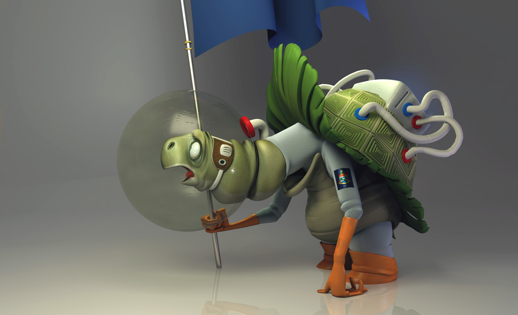 Dan Seddon Space Turtle