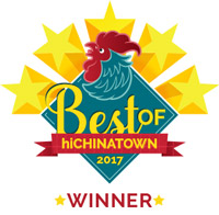 Brick Fire Tavern was voted as one of the    Top 8 Best Restaurants    in the    2017 Best of hiChinatown Awards
