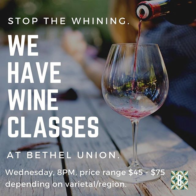 Now this is our type of class! 😎🍷Sign up now! REPOST @bethelunion: Wednesday, Wine Classes, 8PM, price range $45 - $75 depending on varietal/region. Call Kevin at 524-0447 to sign up! #hawaiiwine #winelover #hawaiihappyhours