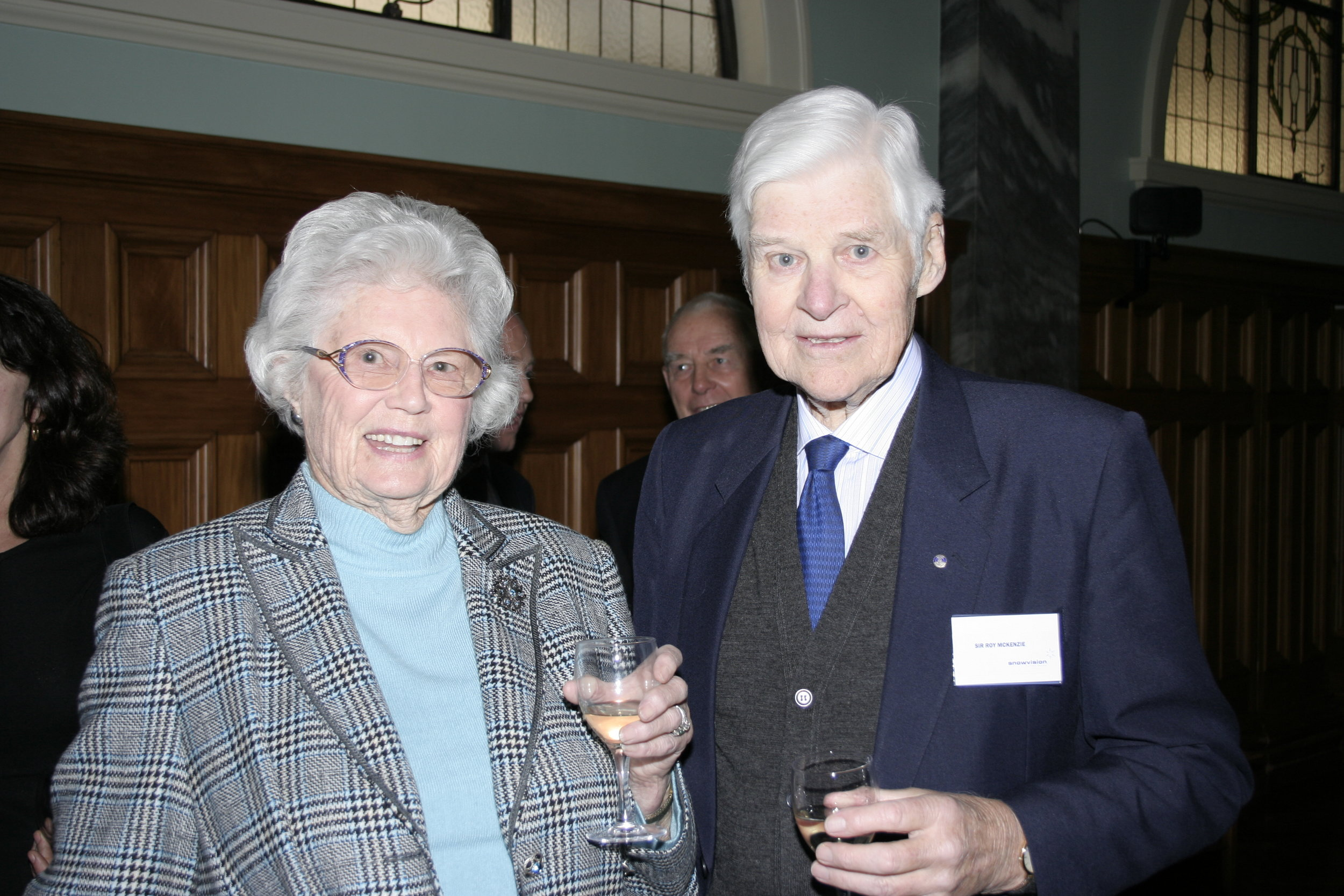 Lady Shirley and Sir Roy McKenzie.