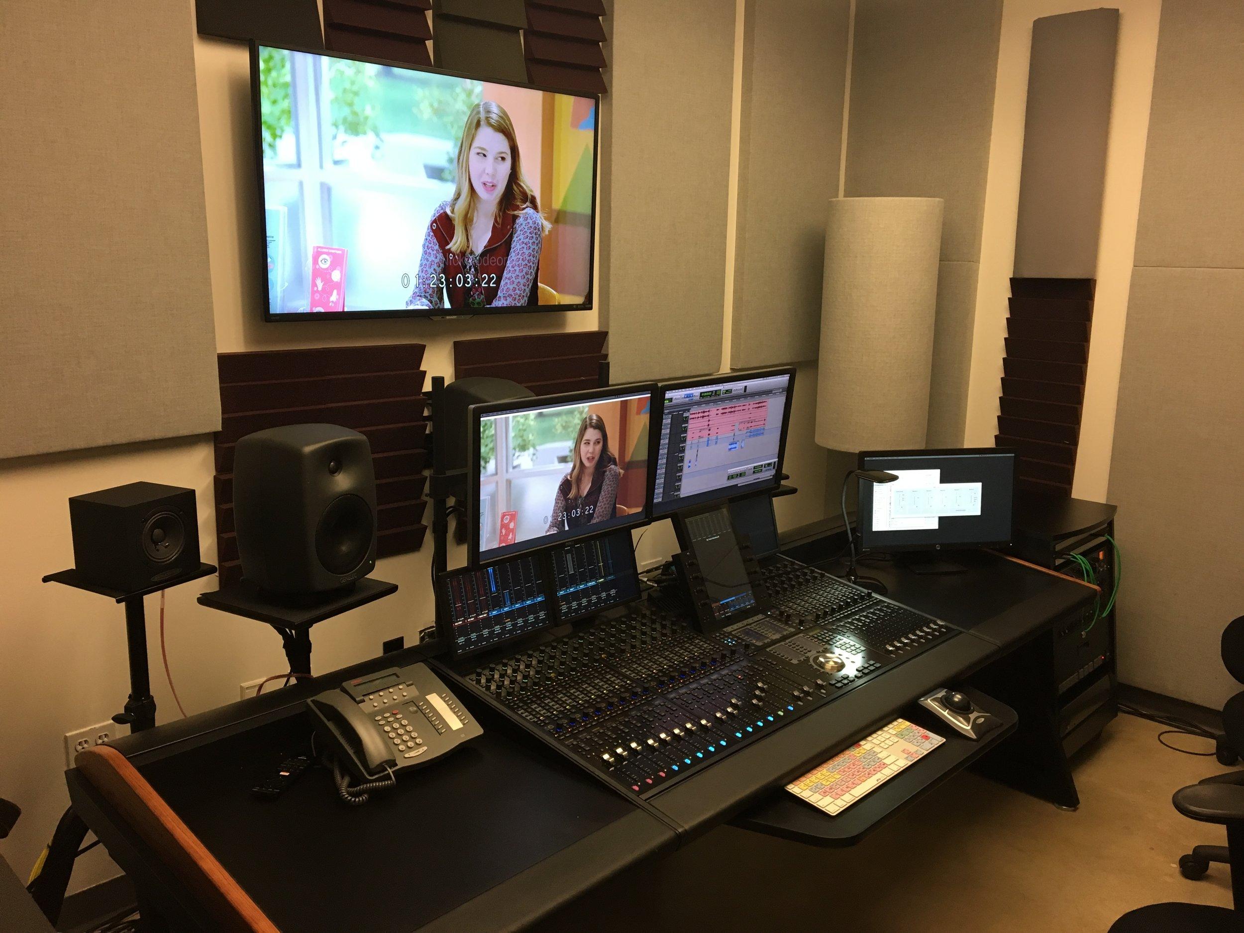 ADR at Viacom studios, Miami