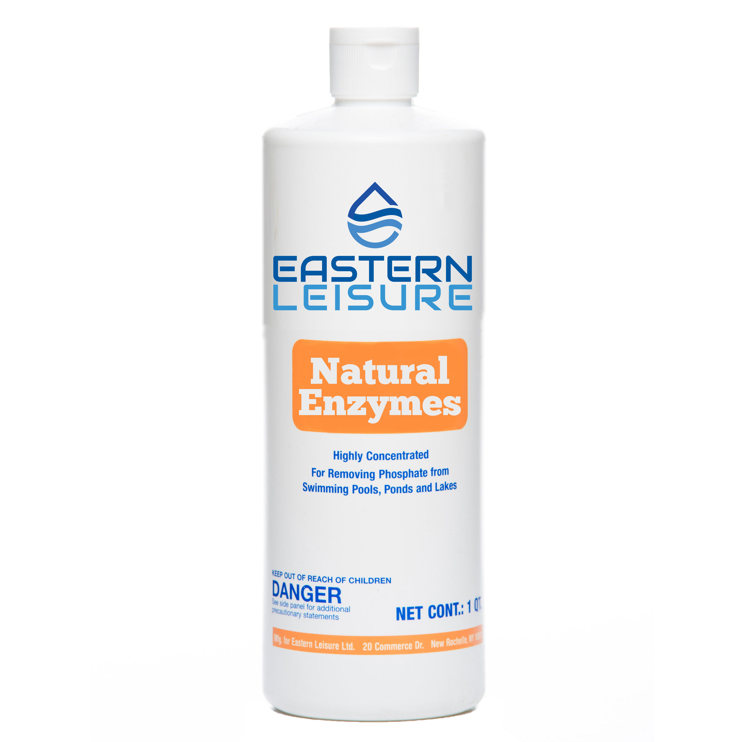 Natural Enzymes   ELP23A - 1 qt. bottle, 12/case  A natural enzyme product that breaks down oils that form scum lines on pool walls while improving filtration.  Dosage: 1 1/2 oz. per 1,000 gal.
