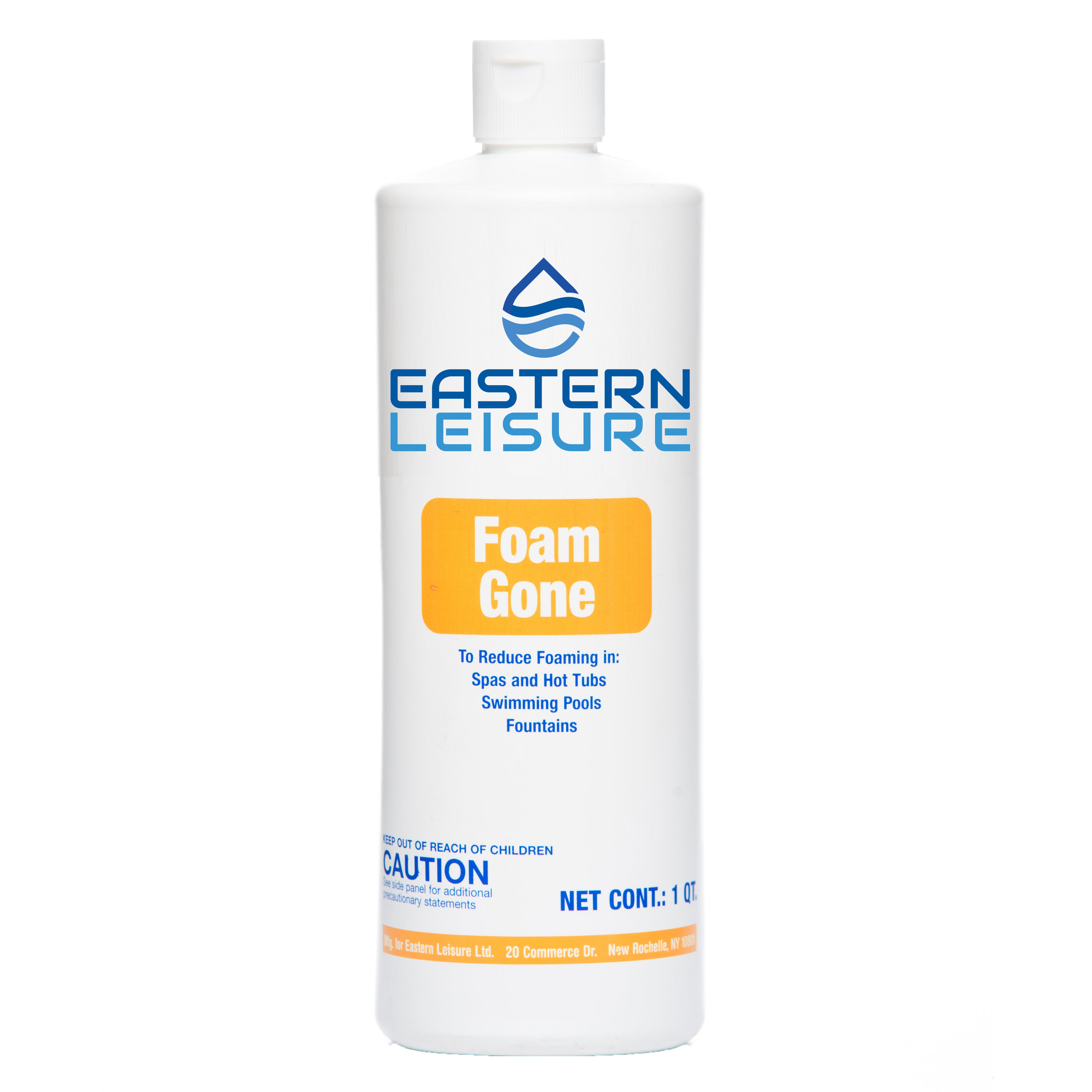 Foam Gone   ELS5G - 1 pt. bottle, 12/case ELS5B - 1 qt. bottle, 12/case ELS5F - 1 gal. bottle, 4/case  A super strength formula that quickly eliminates foam in spas, hot tubs, or swimming pools.  Dosage: Use as needed to reduce foam.