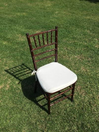 "Mahogany Chiavari Chairs  Dimensions: 19"" wide x 17"" deep x 30"" tall"