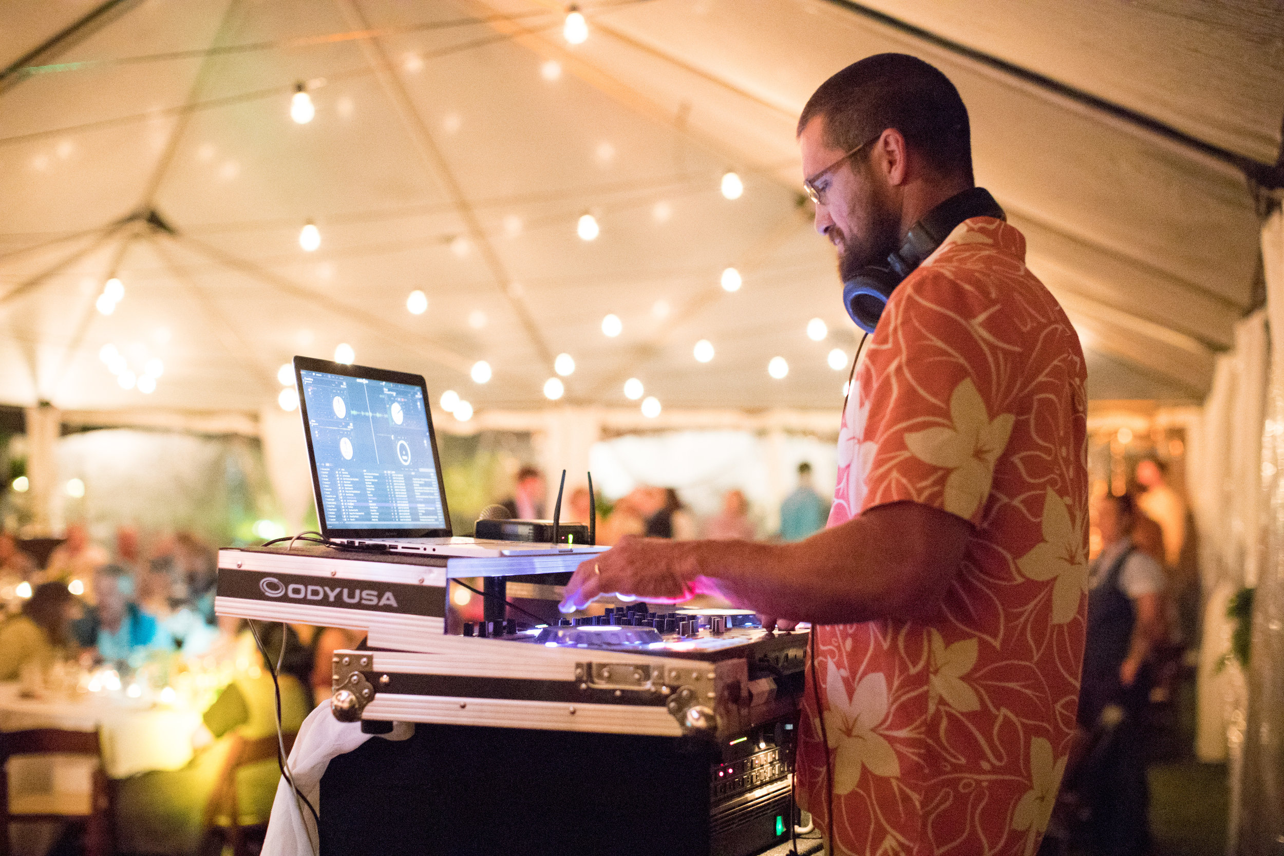 DJ Syf entertaining at an event at  Anna Ranch  for over 200 guests. Photo  Toby Hoogs Photography .