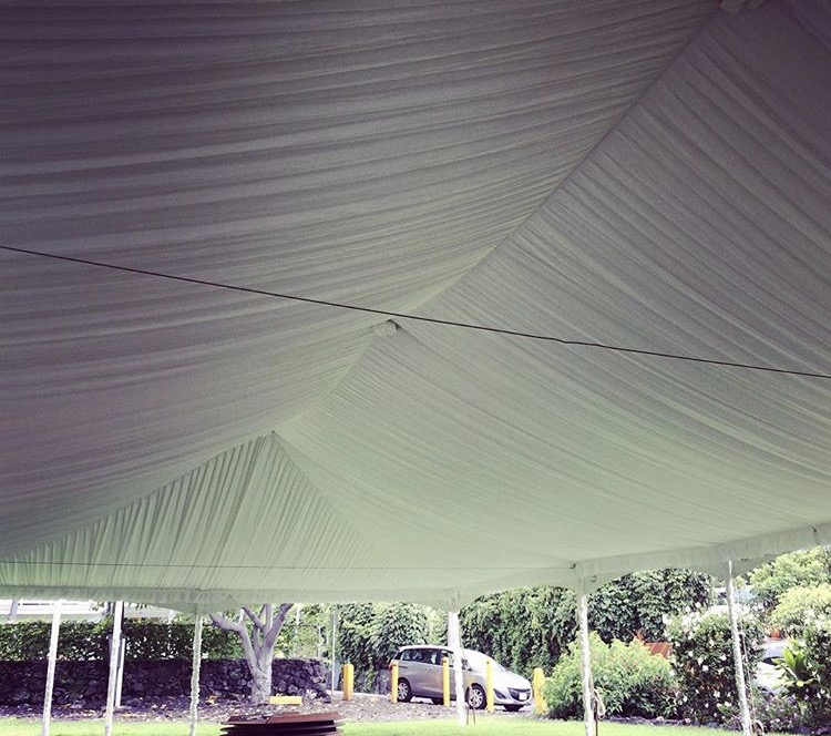 30x60 Tent with Full Tent Liner and Leg Covers.