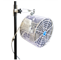 "12"" Pole Mounted Fan"