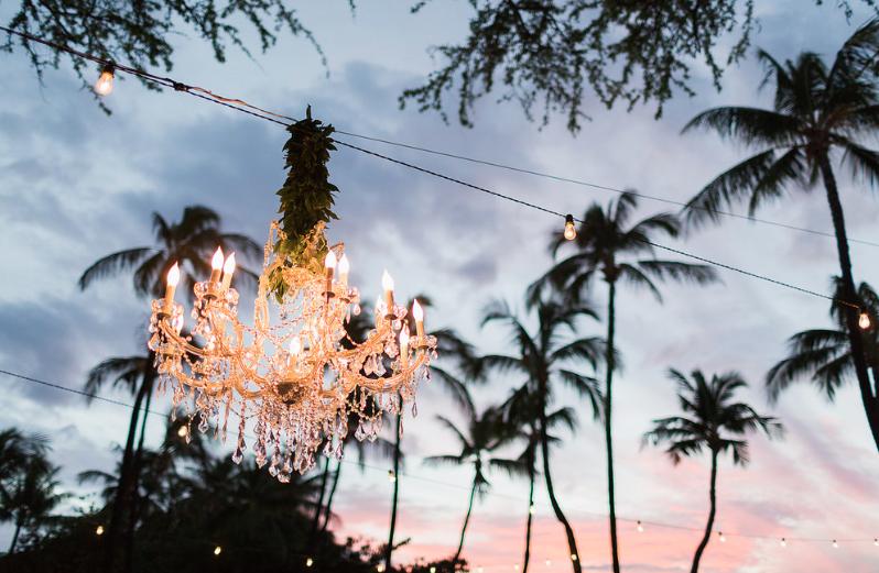 Chandelier and Cafe Lighting. Photo  Sea Light Studios  | Design  Bliss in Bloom