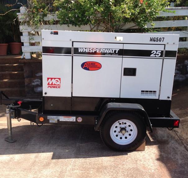 25Kw Whisper Watt Ultra Silent Generator. Includes one full tank of gas.