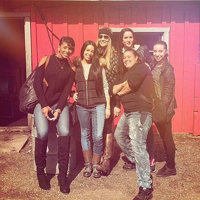 """Mel, Vanessa, and #friends showing @ninagraexo some #Montreal tradition with at a """"Sugar Shack"""" maple farm breakfast spot! N1TEL1TE got to jam live w the talented @ninagraexo for a week in Montreal...and we are excited to share the results of our collab over the next few months! #n1tel1te #montreal #sugarshack #newmusic #love #photooftheday"""