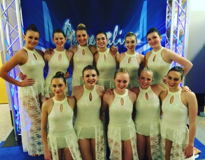 Sr. Elite Company poses after competing at Adrenaline Convention and Competition