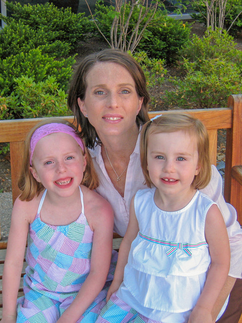 Theresa has a fun summer outing with her daughters Anna (age 5) and Erin (age 3).  The time really does fly by . . . both girls are now teenagers!