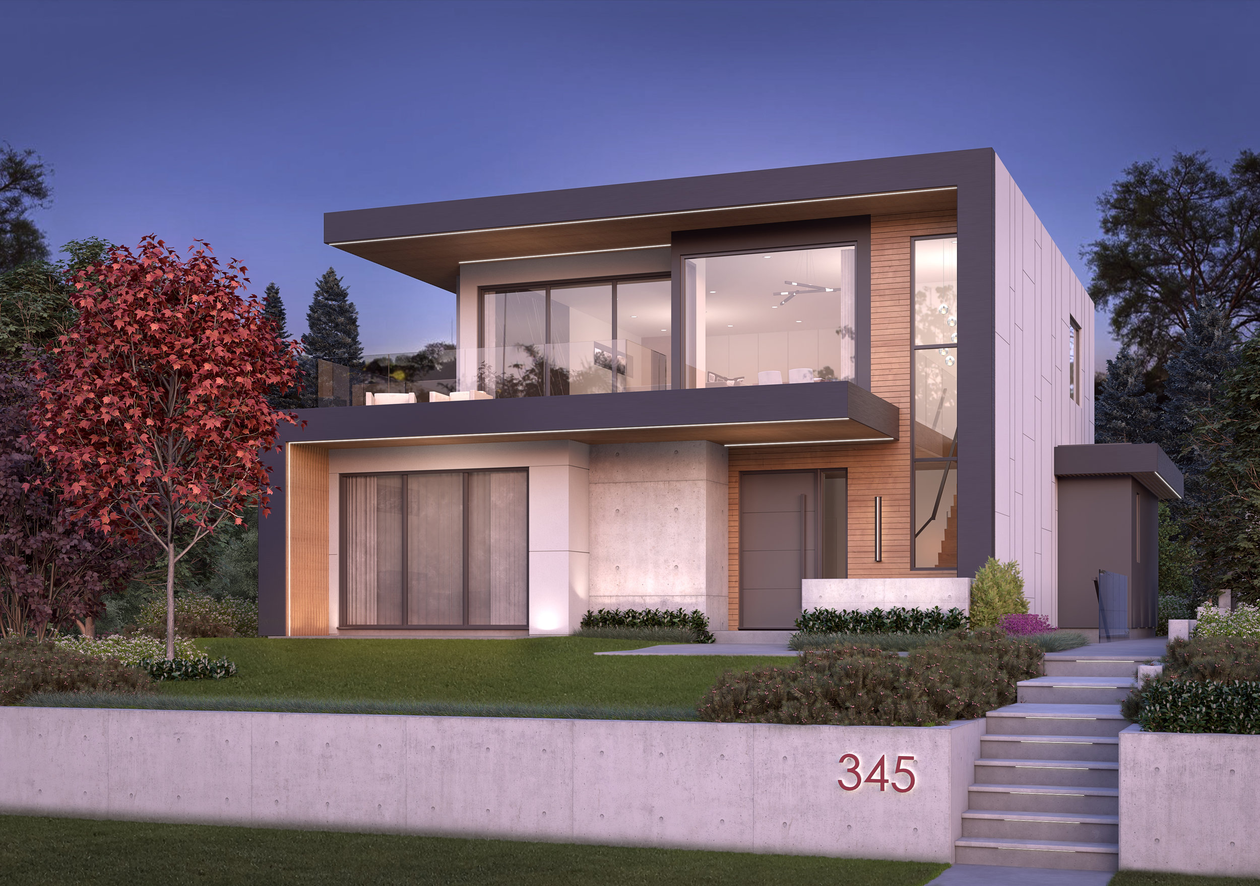 north vancouver architectural rendering house