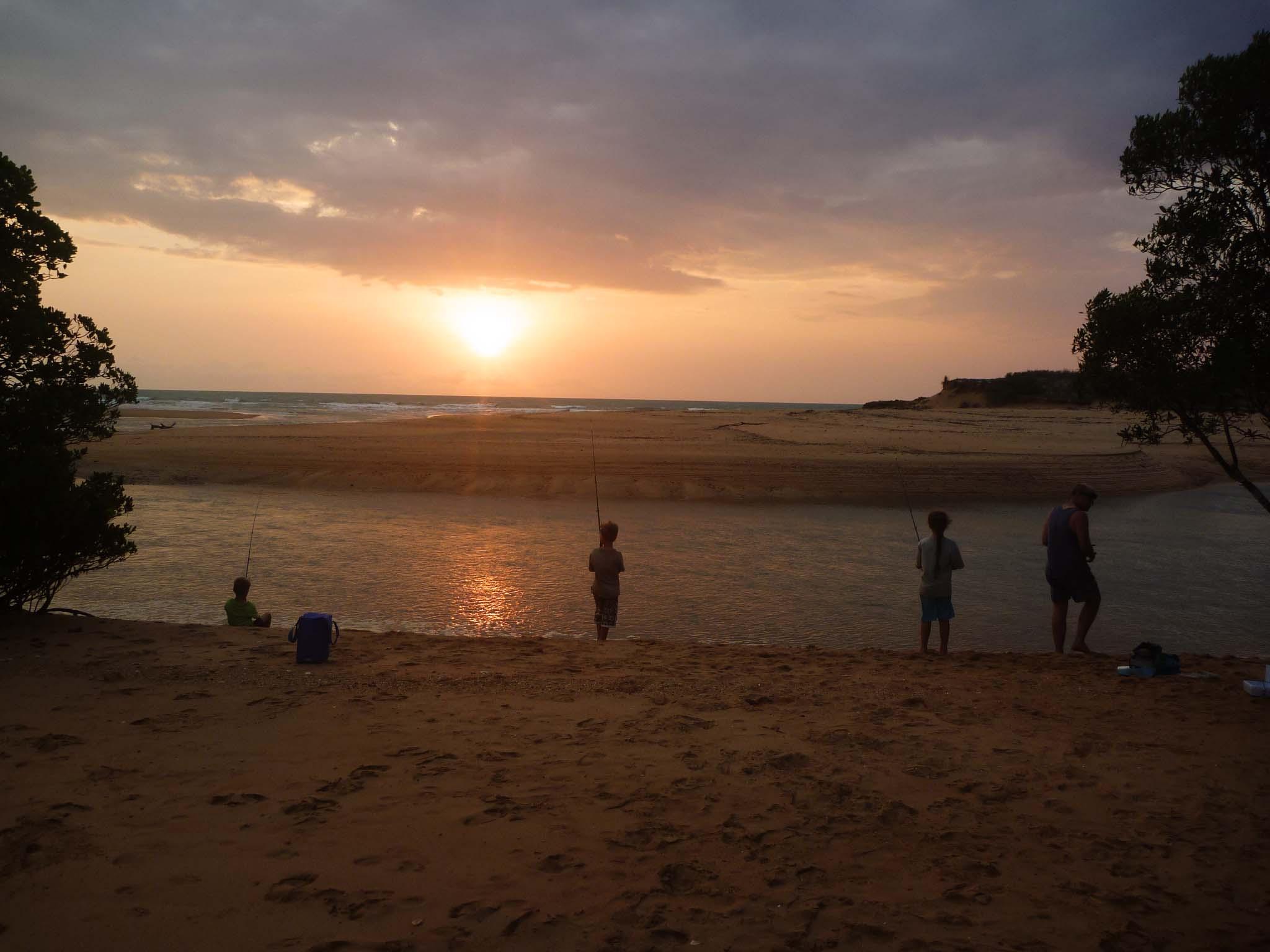 Tidal river at sunset