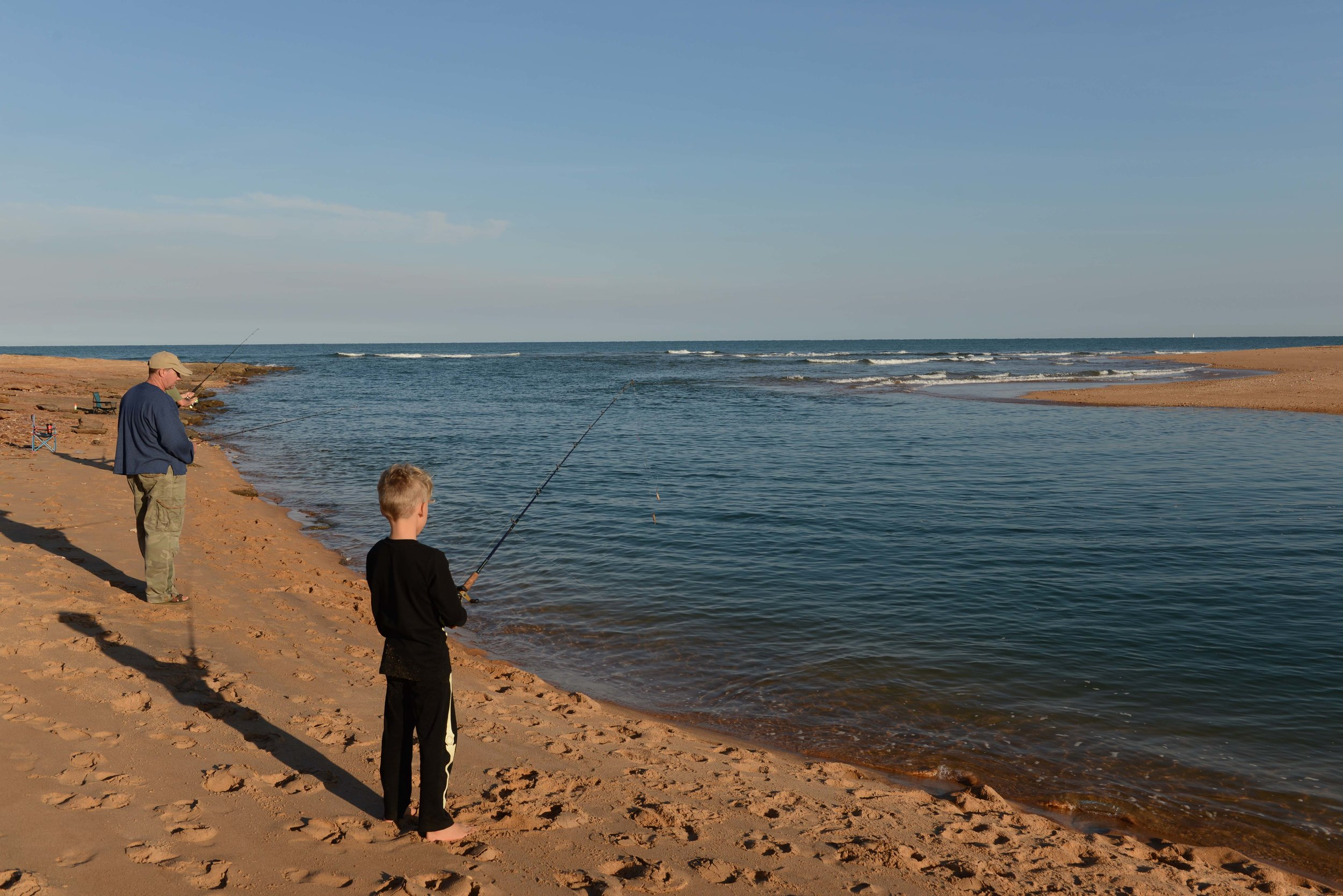 Tidal river is a great spot to try your luck at fishing