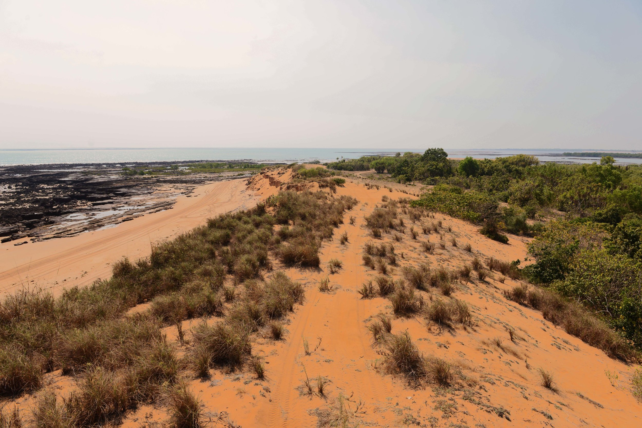 Consider traveling along the back of the dunes