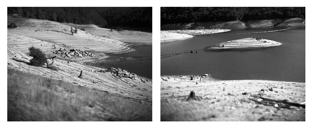 Oroville Reservoir,    4x5 photographs