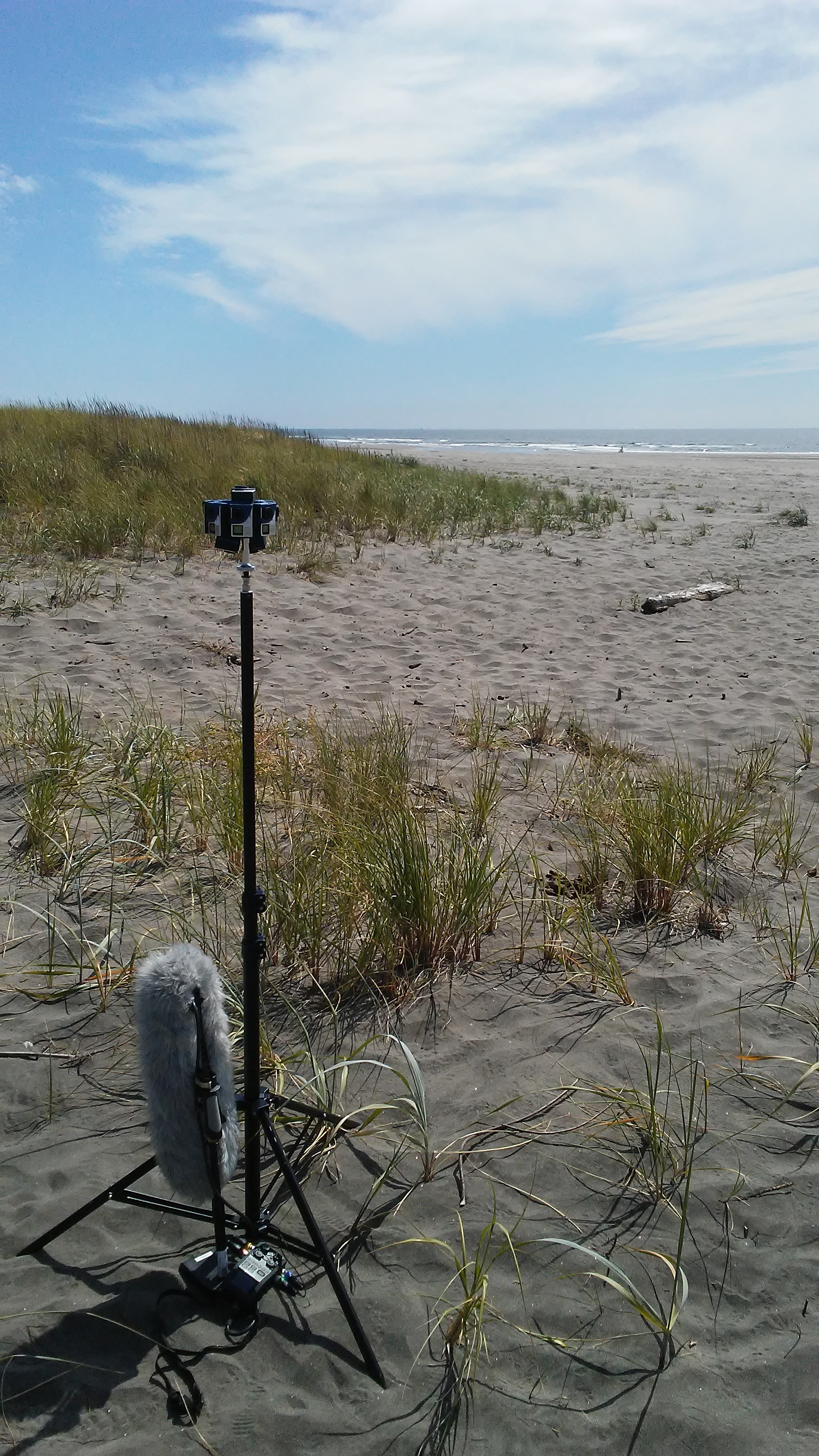 360 camera set-up with ambisonic audio