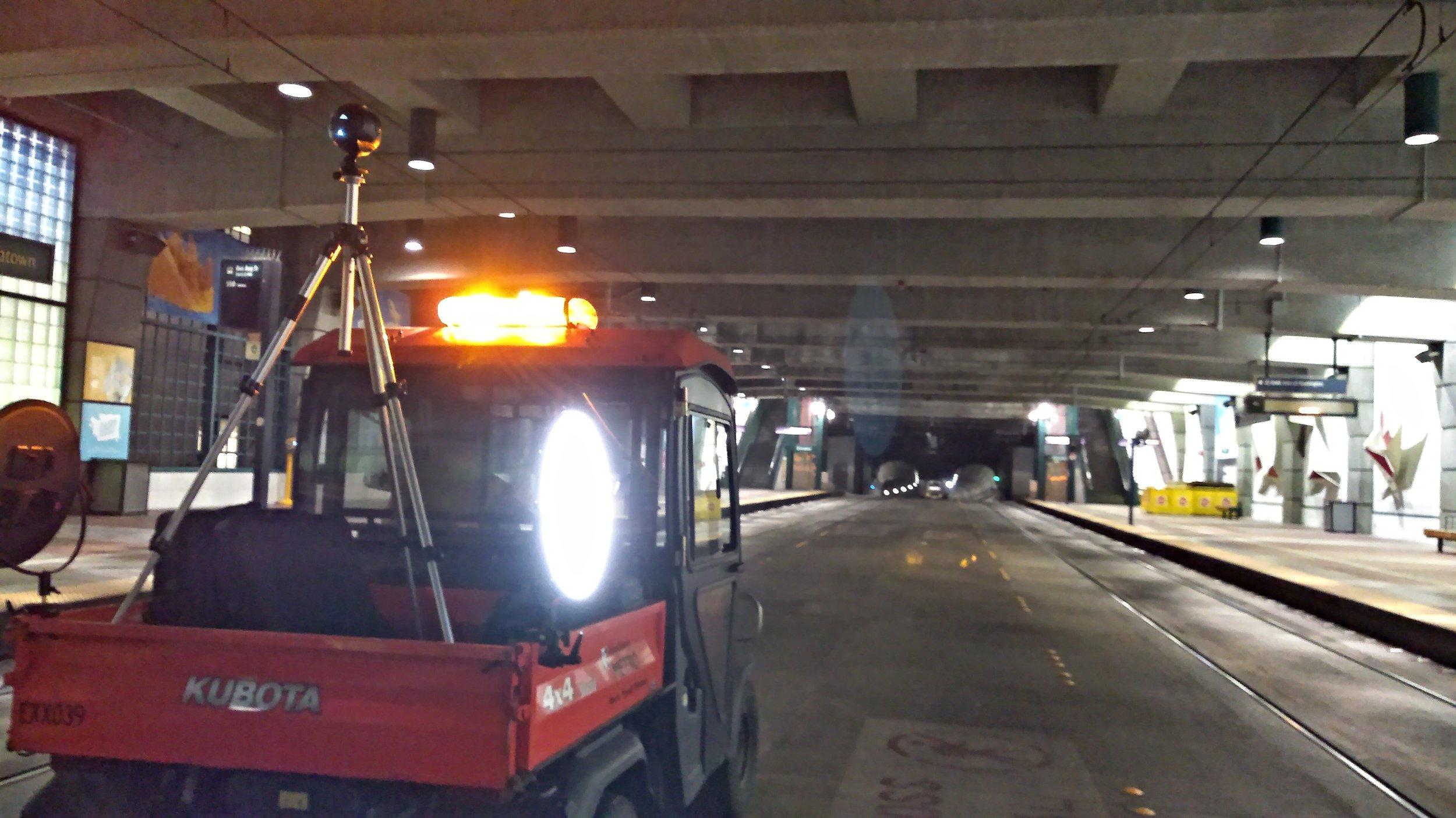 Seattle Underground 360 filming
