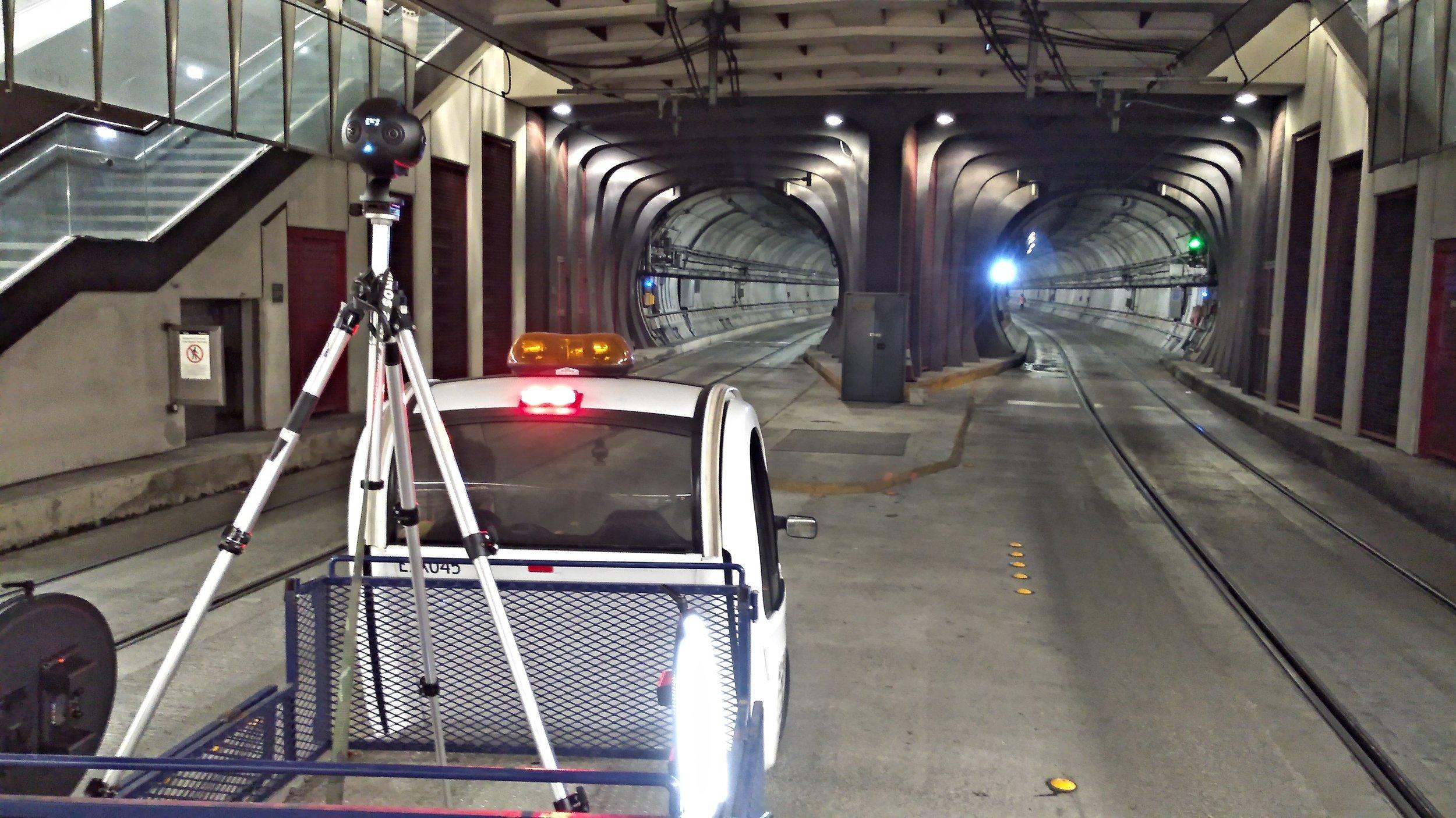 Underground 360 camera rig