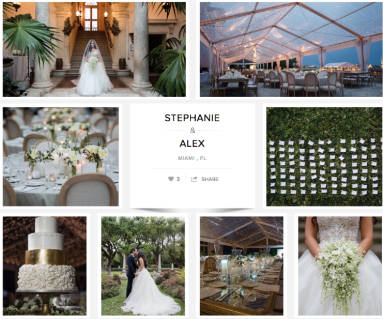 "Check out Stephanie and Alex's wedding on ""Carats & Cake."""