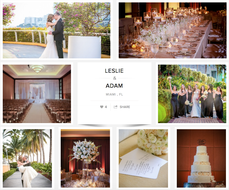 "Check out Leslie and Adam's wedding on ""Carats & Cake."""
