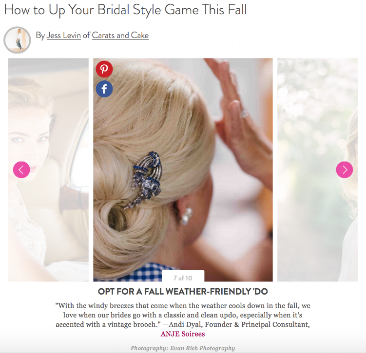 We shared some seasonal bridal style tips with Martha Stewart Weddings. Check it out!