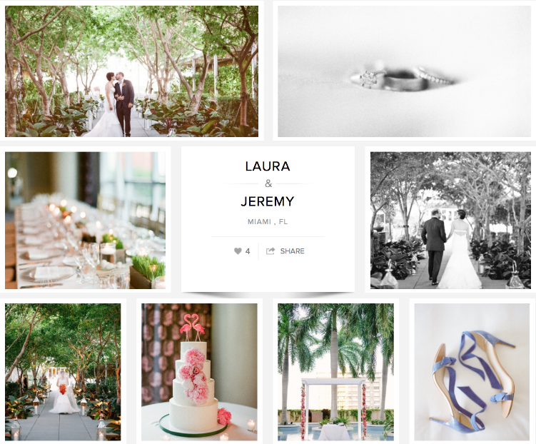 "Check out Laura and Jeremy's wedding on ""Carats & Cake."""